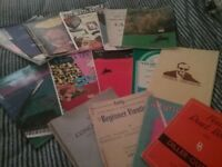 Sheet music and books from variety of music genres
