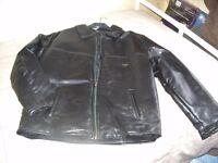 Men's Italian Leather Jacket - Large