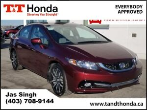 2015 Honda Civic Touring* No Accidents, Rear Camera, Heated Seat