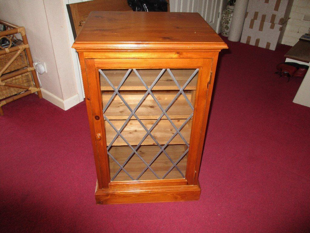 Wooden Hi Fi Cabinet Solid Pine Wood Antique Pine Finish