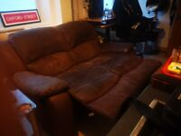 Recliner Sofa (splits into 2 chairs)