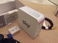 Sky hub router white