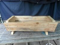 Solid wooden Trough planter