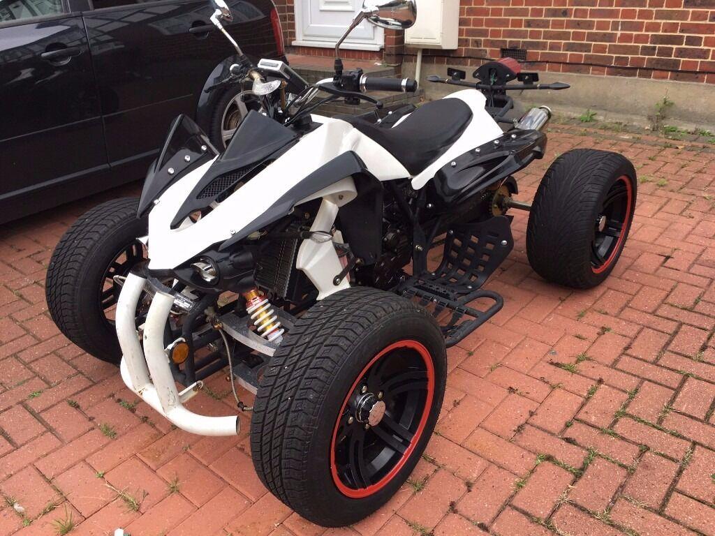 road legal jinling quad bike 250cc white black ready to. Black Bedroom Furniture Sets. Home Design Ideas