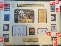 Signed Charlie George (Arsenal) photo in frame with certificate of authenticity