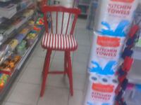 Red Wooden Gloss Painted stool