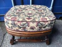 Vintage oak footstool FREE DELIVERY PLYMOUTH AREA
