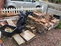FREE - loads of bricks, slabs and new tiles