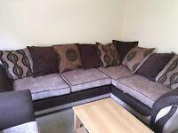 Corner sofa and arm chair set