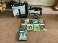 XBOX-360 with Kinect + 10 Game CDs