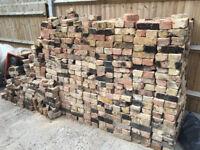 1,000 full bricks and about 250 half bricks