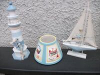 YANKEE CANDLE TOPPER LIGHTHOUSE AND BOAT