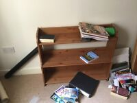 Small three shelf bookcase