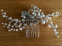 Bridal Hair Comb with Swarovski Pearls