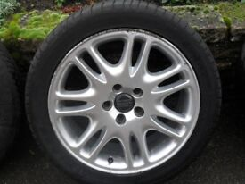 TWO SECOND HAND WHEELS & TYRES FOR VOLVO V70