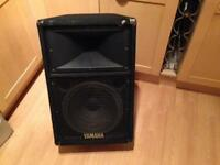 "Yamaha 12"" PA speakers with high end 2"" horn"