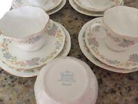 Fine Bone China cups, saucers & side plates