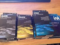 10 Brother ink cartridges - LC1240C, LC1240BK,LC1280XL-Y, LC1280Xl-M