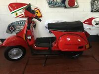 "Vespa t5 ""fully restored "" (F) reg over 30 classics in stock"