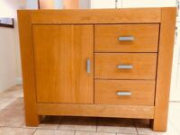 Oak Sideboard Cabinet Cupboard Unit with Drawers with Shelves