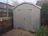 10ft x 8ft Dutch barn style shed