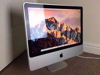 "Apple iMac 20"" 2.66 GHz Dual Core, 4GB RAM, 320GB Hard Drive NVIDIA GeForce 9400 OS X Yosemite"