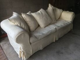 3 Seater Sofa, cream.