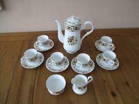 Royal Staffordshire Fine Bone China Coffee Set - Clovelly Pattern.