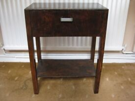 Dark oak vintage small table stand (telephone stand ).