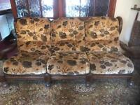 Large 3 seater and two armchairs