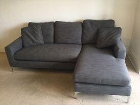 DWELL Lshape sofa grey fabric