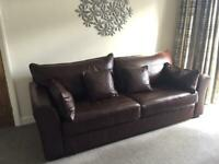 Collin & Hayes Remus/heath quality leather sofa