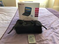 """Proline 7"""" Widescreen Portable DVD Player and protective case"""