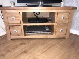 Dunelm Wooden Corner TV unit