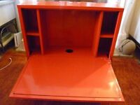 IKEA PS RED WALL MOUNTED DESK
