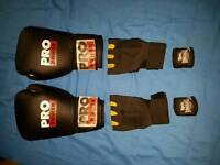 Pro power gloves, Lonsdale gloves and Lonsdale hand wraps