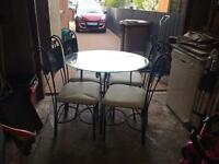 glass table coffee table and chairs