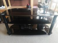 Black Glass TV Stand 100 cmsx 46cms