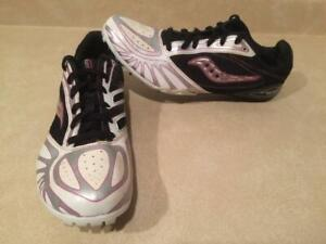 75c9cea18 Womens Size 10 Saucony Crescent Sprint Cross Country Track   Field Sprint  Running Spikes Shoes