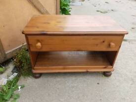 Pine tv cabinet with dvds