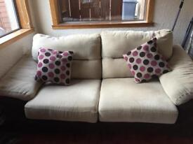 Sofabed fabric with leather effect base and andback