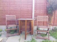 Ikea ÄPPLARÖ Outdoor table+4 folding chairs.