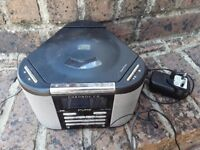 Pure digital radio and cd player triagular shape