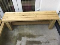 New handmade Solid treat timber garden bench