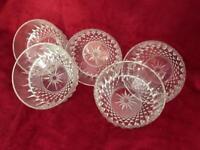 Glass dessert bowls