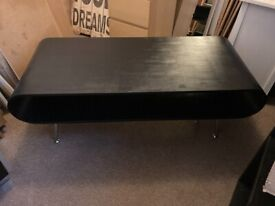 BLACK UNUSUAL COFFEE TABLE / TV STAND