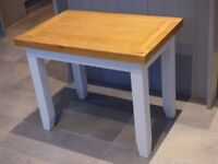 Solid oak lamp table/small coffee table