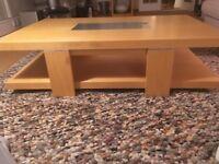 Beech coffee table