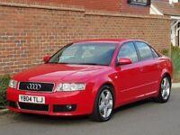 Audi A4 1.9 TDI Sport S Line (2004/04 Reg) + RARE MILANO RED + 130 BHP + 6 SPEED + RARE + 134K + FSH