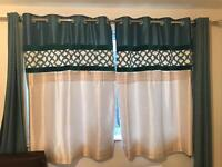 2 set of curtain + poles for sale